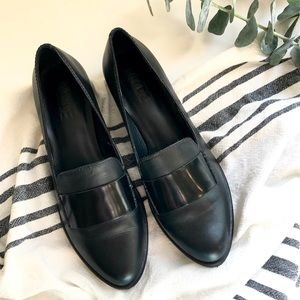 M4D3   Black Ocean Loafers 6 Leather Mod Chic